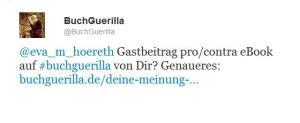 Anfrage Buchguerilla