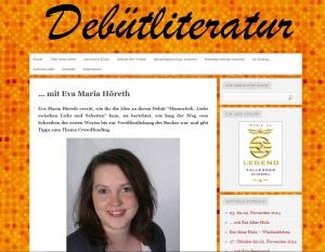Interview mit mir auf dem Blog Debütliteratur