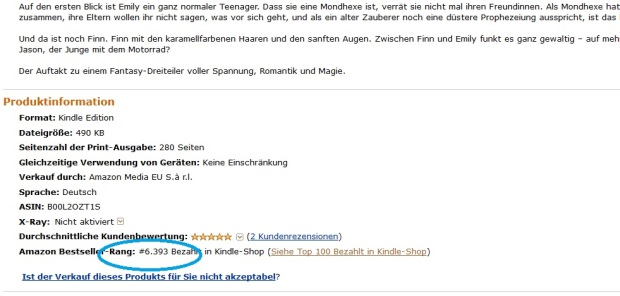 Platz 6393 im Amazon Ranking am 13.07.2014