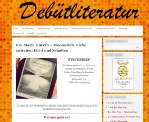Rezension Moonwitch auf Debütliteratur